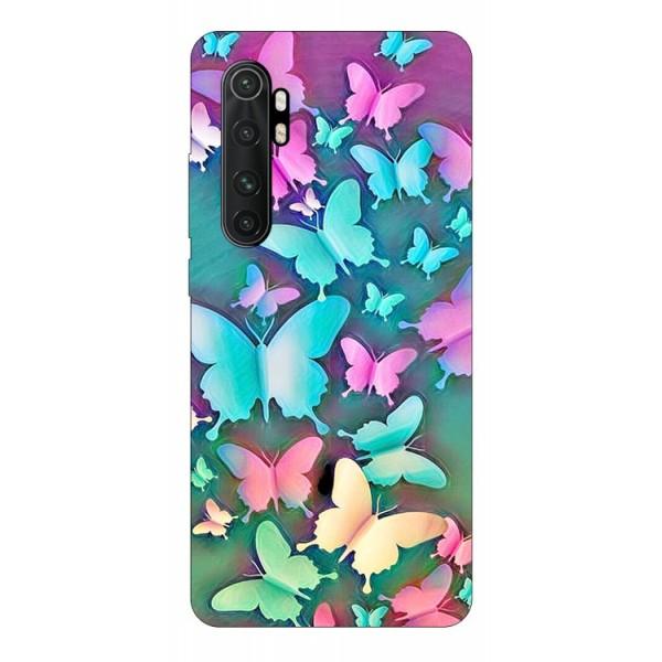 Husa Silicon Soft Upzz Print Compatibila Cu Xiaomi Mi Note 10 Lite Model Colorful Butterflies imagine itelmobile.ro 2021