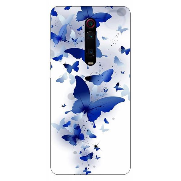 Husa Silicon Soft Upzz Print Compatibila Cu Xiaomi Redmi 9t Model Blue Butterflies imagine itelmobile.ro 2021