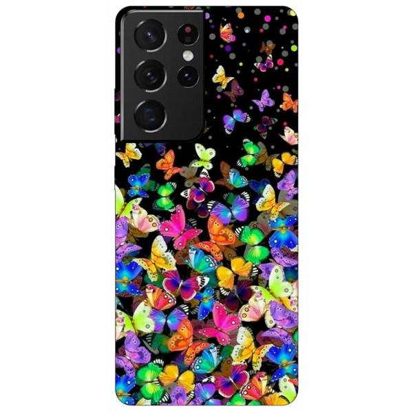 Husa Silicon Soft Upzz Print Compatibila Cu Samsung Galaxy S21 Ultra Model Colorature imagine itelmobile.ro 2021