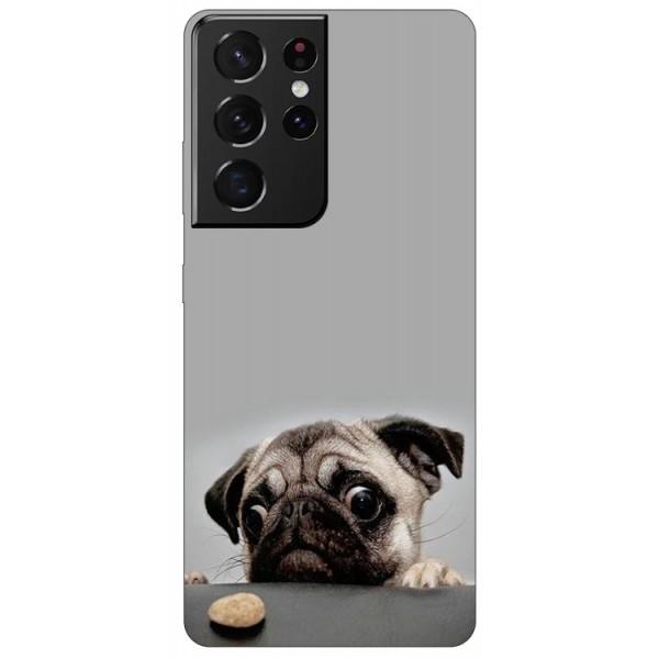 Husa Silicon Soft Upzz Print Compatibila Cu Samsung Galaxy S21 Ultra Model Dog imagine itelmobile.ro 2021
