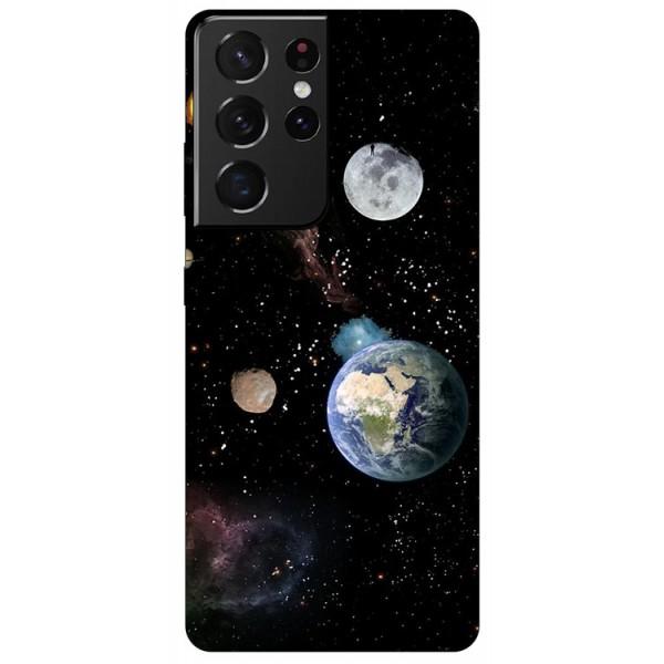 Husa Silicon Soft Upzz Print Compatibila Cu Samsung Galaxy S21 Ultra Model Earth imagine itelmobile.ro 2021