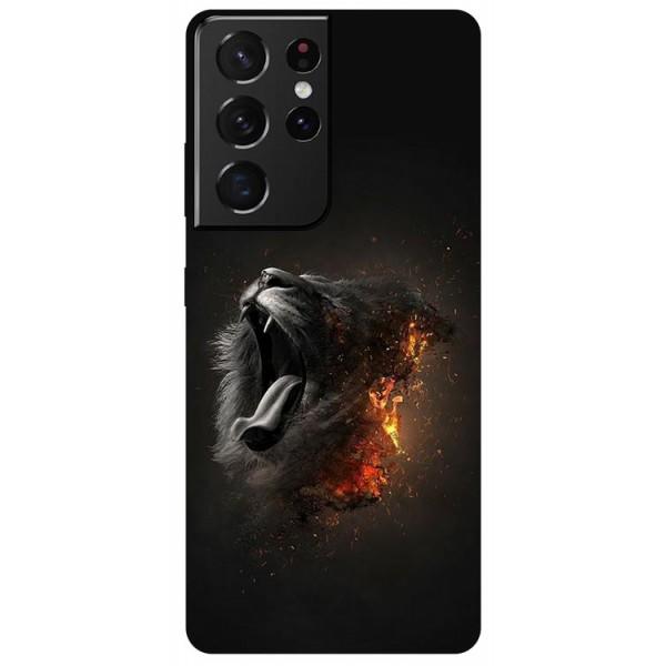 Husa Silicon Soft Upzz Print Compatibila Cu Samsung Galaxy S21 Ultra Model Lion imagine itelmobile.ro 2021