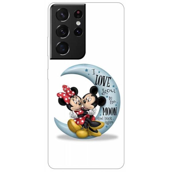 Husa Silicon Soft Upzz Print Compatibila Cu Samsung Galaxy S21 Ultra Model Moon 2 imagine itelmobile.ro 2021
