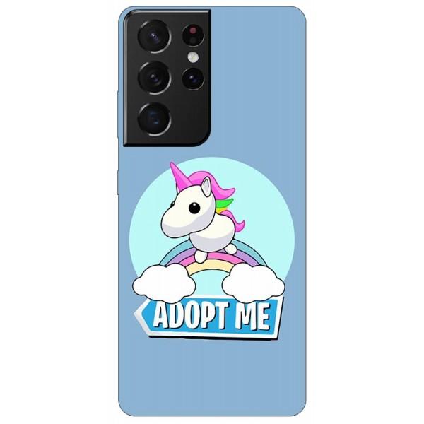 Husa Silicon Soft Upzz Print Compatibila Cu Samsung Galaxy S21 Ultra Model Pink Unicorn imagine itelmobile.ro 2021
