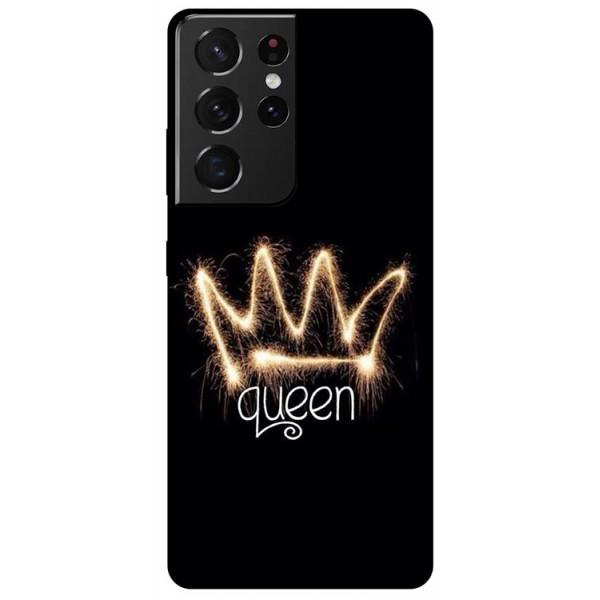 Husa Silicon Soft Upzz Print Compatibila Cu Samsung Galaxy S21 Ultra Model Queen imagine itelmobile.ro 2021