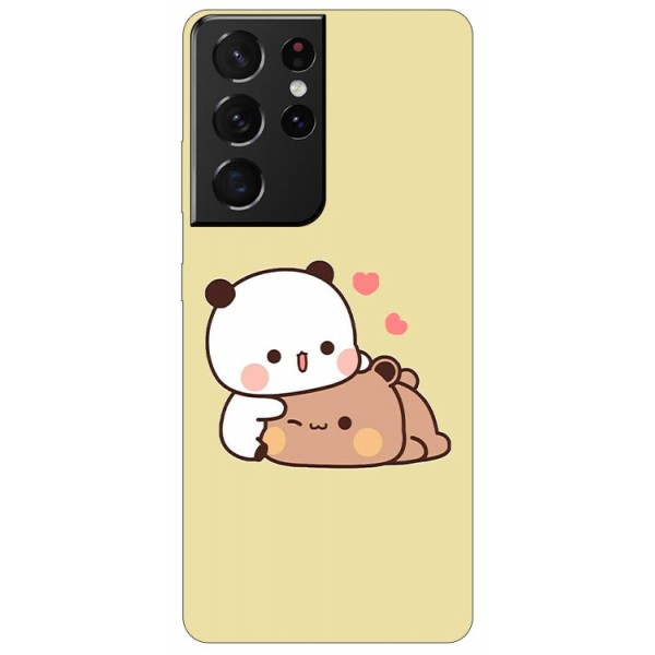 Husa Silicon Soft Upzz Print Compatibila Cu Samsung Galaxy S21 Ultra Model Teddy imagine itelmobile.ro 2021