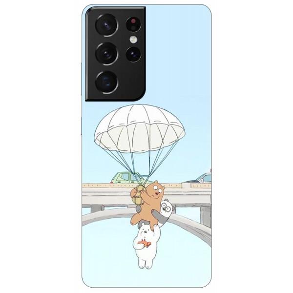Husa Silicon Soft Upzz Print Compatibila Cu Samsung Galaxy S21 Ultra Model Three Bears imagine itelmobile.ro 2021