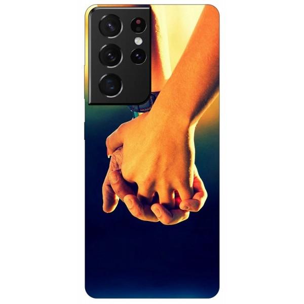 Husa Silicon Soft Upzz Print Compatibila Cu Samsung Galaxy S21 Ultra Together imagine itelmobile.ro 2021