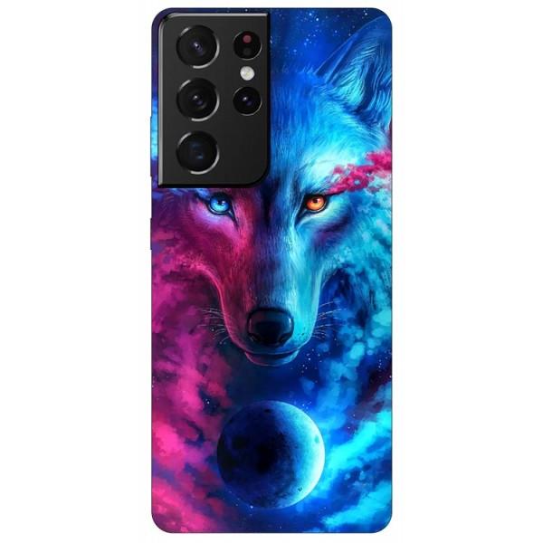 Husa Silicon Soft Upzz Print Compatibila Cu Samsung Galaxy S21 Ultra Model Wolf imagine itelmobile.ro 2021
