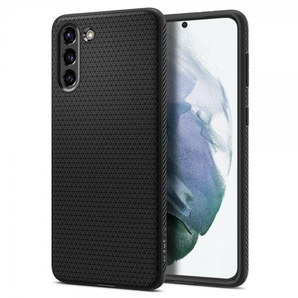Husa Premium Spigen Liquid Air Pentru Samsung Galaxy S21, Silicon, Negru imagine itelmobile.ro 2021