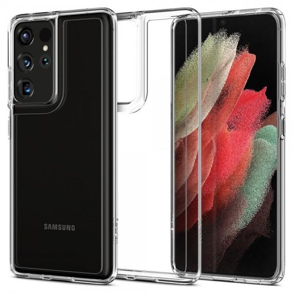 Husa Premium Spigen Ultra Hybrid Pentru Samsung Galaxy S21 Ultra, Transparenta imagine itelmobile.ro 2021