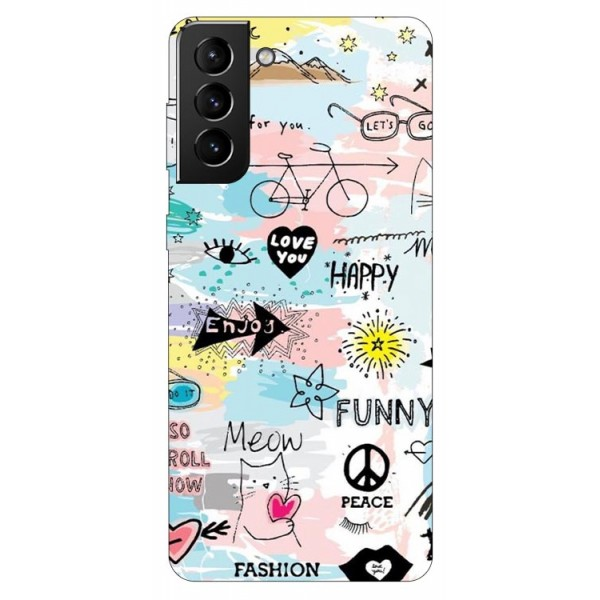 Husa Silicon Soft Upzz Print Compatibila Cu Samsung Galaxy S21 Plus Model Meow imagine itelmobile.ro 2021