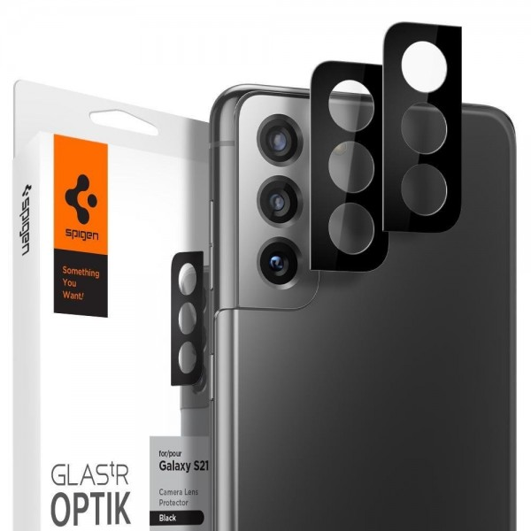 Folie Sticla Camera Nano Glass Spigen Optik Pentru Samsung Galaxy S21, Negru 2 Bucati In Pachet imagine itelmobile.ro 2021