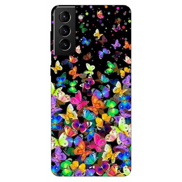 Husa Silicon Soft Upzz Print Compatibila Cu Samsung Galaxy S21 Model Colorature imagine itelmobile.ro 2021