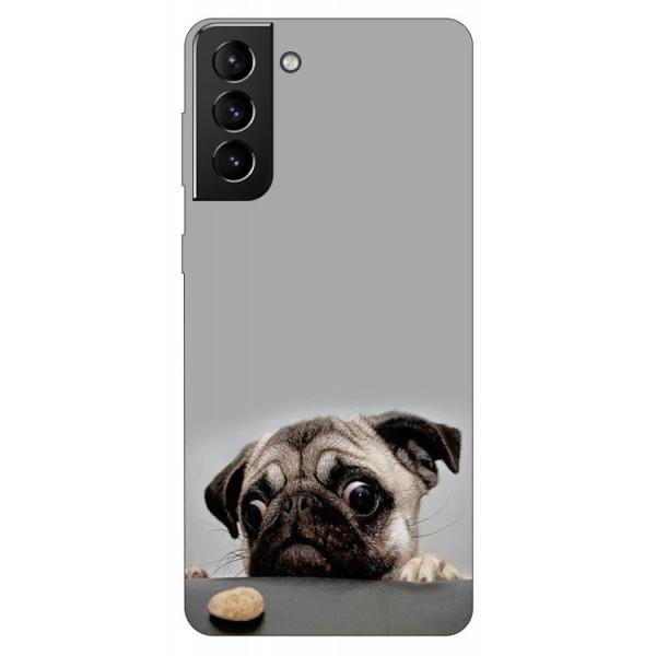 Husa Silicon Soft Upzz Print Compatibila Cu Samsung Galaxy S21 Model Dog imagine itelmobile.ro 2021