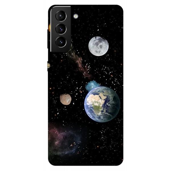 Husa Silicon Soft Upzz Print Compatibila Cu Samsung Galaxy S21 Model Earth imagine itelmobile.ro 2021