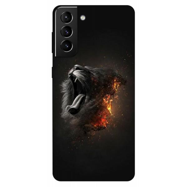 Husa Silicon Soft Upzz Print Compatibila Cu Samsung Galaxy S21 Model Lion imagine itelmobile.ro 2021