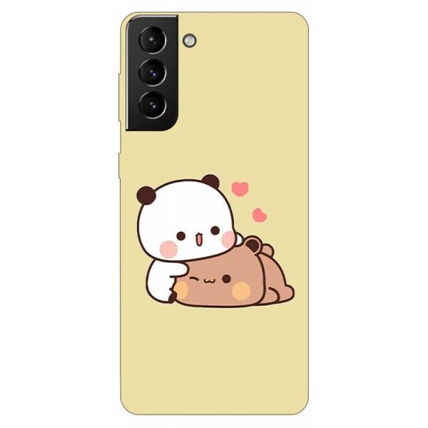 Husa Silicon Soft Upzz Print Compatibila Cu Samsung Galaxy S21 Model Teddy imagine itelmobile.ro 2021