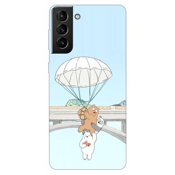 Husa Silicon Soft Upzz Print Compatibila Cu Samsung Galaxy S21 Model Three Bears imagine itelmobile.ro 2021