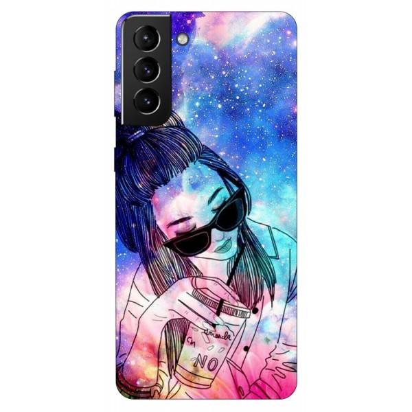 Husa Silicon Soft Upzz Print Compatibila Cu Samsung Galaxy S21 Model Universe Girl imagine itelmobile.ro 2021