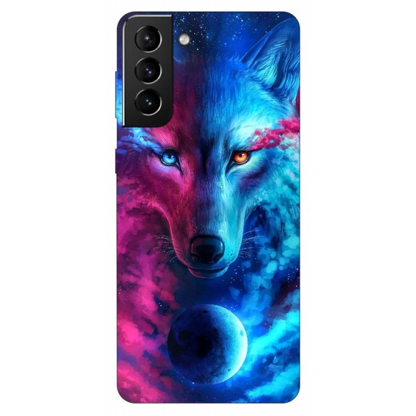 Husa Silicon Soft Upzz Print Compatibila Cu Samsung Galaxy S21 Model Wolf imagine itelmobile.ro 2021
