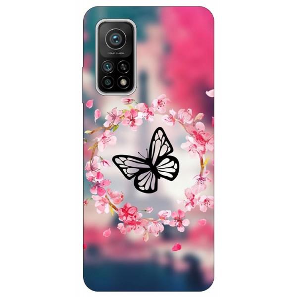 Husa Silicon Soft Upzz Print Compatibila Cu Xiaomi Mi 10t / Mi 10t Pro Model Butterfly imagine itelmobile.ro 2021