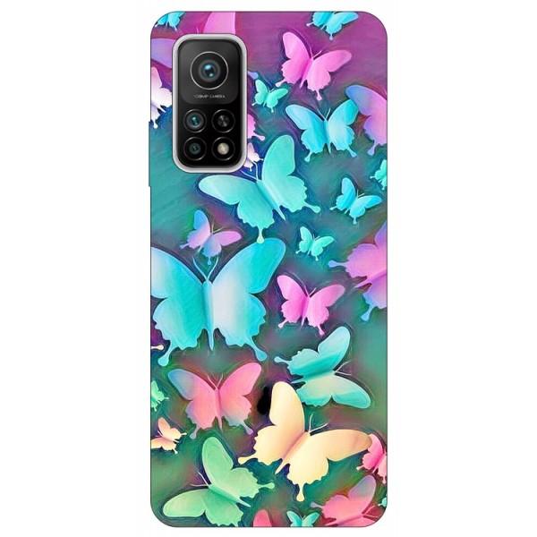Husa Silicon Soft Upzz Print Compatibila Cu Xiaomi Mi 10t / Mi 10t Pro Model Colorfull Butterflies imagine itelmobile.ro 2021