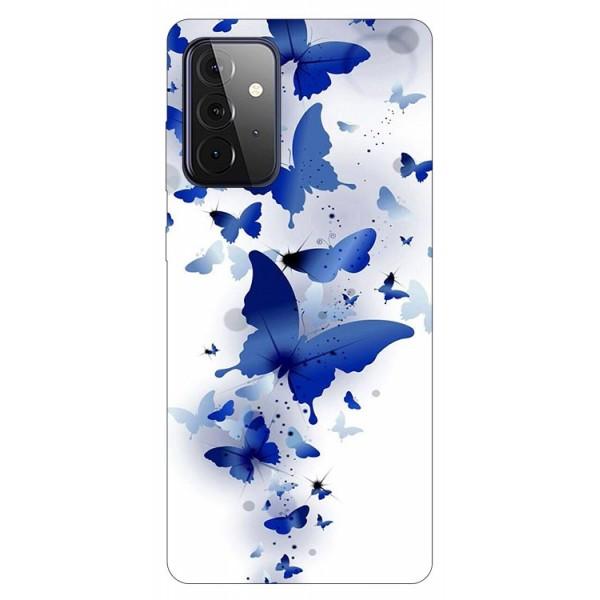 Husa Silicon Soft Upzz Print Compatibila Cu Samsung Galaxy A72 5g Model Blue Butterflies imagine itelmobile.ro 2021
