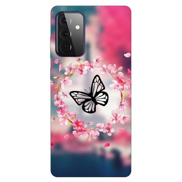 Husa Silicon Soft Upzz Print Compatibila Cu Samsung Galaxy A72 5g Model Butterfly imagine itelmobile.ro 2021