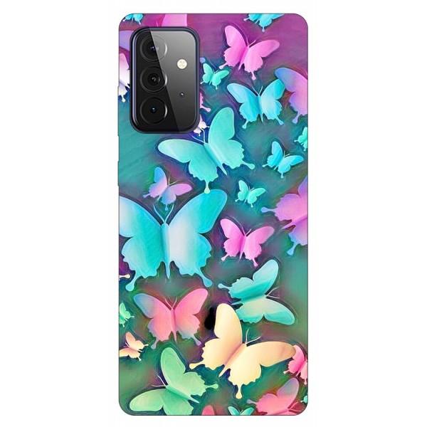 Husa Silicon Soft Upzz Print Compatibila Cu Samsung Galaxy A72 5g Model Colorfull Butterflies imagine itelmobile.ro 2021