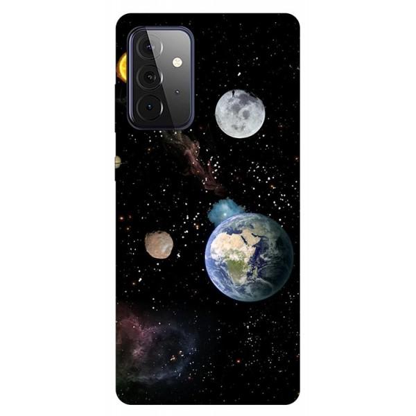 Husa Silicon Soft Upzz Print Compatibila Cu Samsung Galaxy A72 5g Model Earth imagine itelmobile.ro 2021