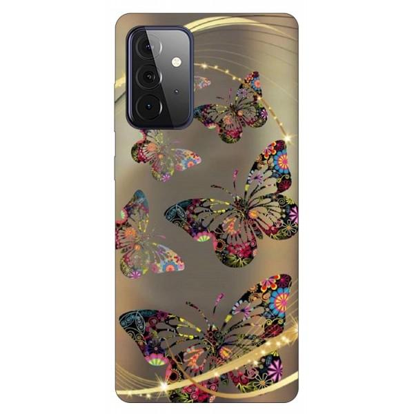 Husa Silicon Soft Upzz Print Compatibila Cu Samsung Galaxy A72 5g Model Golden Butterflies imagine itelmobile.ro 2021