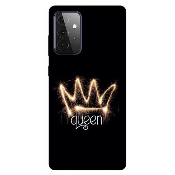 Husa Silicon Soft Upzz Print Compatibila Cu Samsung Galaxy A72 5g Model Queen imagine itelmobile.ro 2021