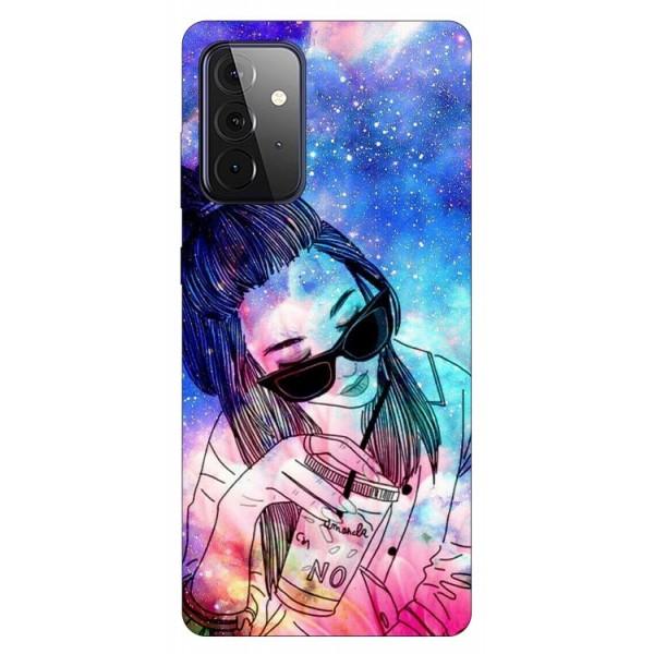 Husa Silicon Soft Upzz Print Compatibila Cu Samsung Galaxy A72 5g Model Universe Girl imagine itelmobile.ro 2021