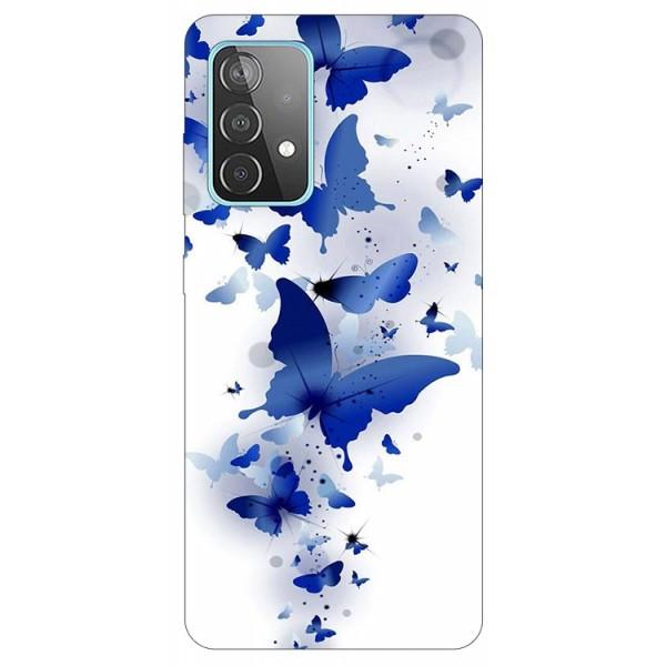 Husa Silicon Soft Upzz Print Compatibila Cu Samsung Galaxy A52 4G / A52 5G Model Blue Butterflies imagine itelmobile.ro 2021