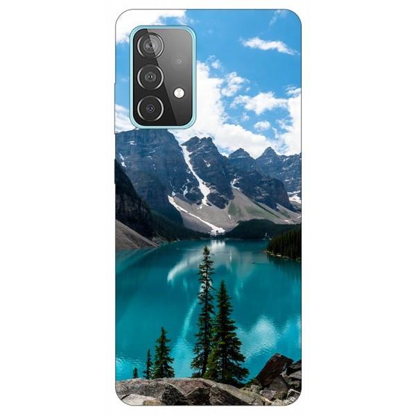 Husa Silicon Soft Upzz Print Compatibila Cu Samsung Galaxy A52 4G / A52 5G Model Blue imagine itelmobile.ro 2021