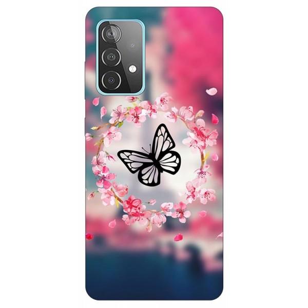 Husa Silicon Soft Upzz Print Compatibila Cu Samsung Galaxy A52 4G / A52 5G Model Blutterfly imagine itelmobile.ro 2021