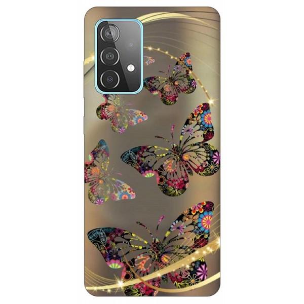Husa Silicon Soft Upzz Print Compatibila Cu Samsung Galaxy A52 4G / A52 5G Model Golden Butterfly imagine itelmobile.ro 2021