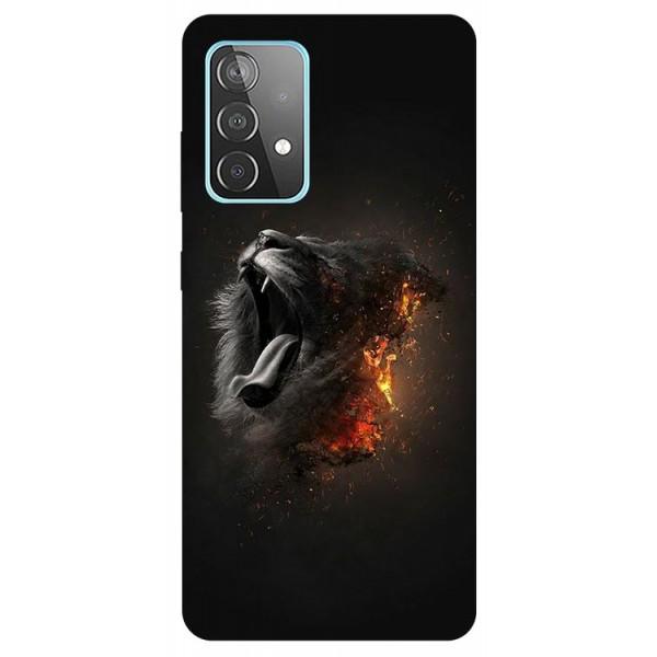 Husa Silicon Soft Upzz Print Compatibila Cu Samsung Galaxy A52 4G / A52 5G Model Lion imagine itelmobile.ro 2021