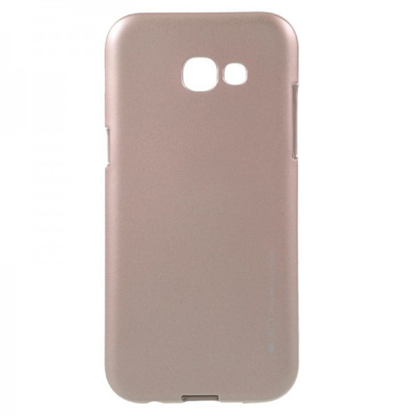 Husa Spate Goospery I-jelly Metal Samsung A3 2017 A320 Rose Gold imagine itelmobile.ro 2021