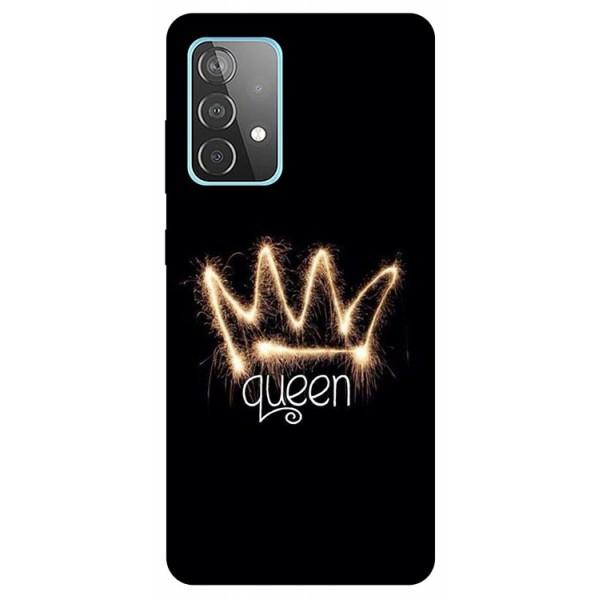 Husa Silicon Soft Upzz Print Compatibila Cu Samsung Galaxy A52 4G / A52 5G Model Queen imagine itelmobile.ro 2021
