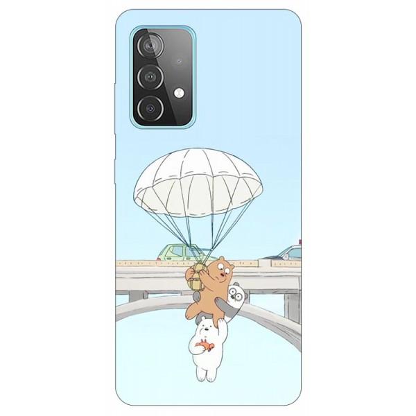 Husa Silicon Soft Upzz Print Compatibila Cu Samsung Galaxy A52 4G / A52 5G Model Three Bears imagine itelmobile.ro 2021