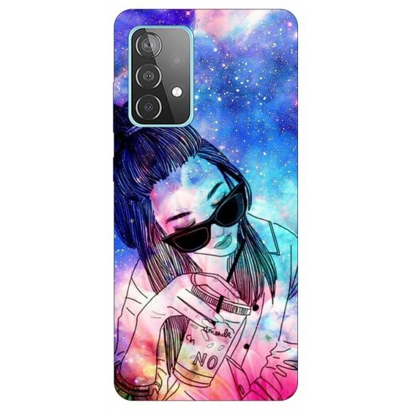 Husa Silicon Soft Upzz Print Compatibila Cu Samsung Galaxy A52 4G / A52 5G Model Universe Girl imagine itelmobile.ro 2021