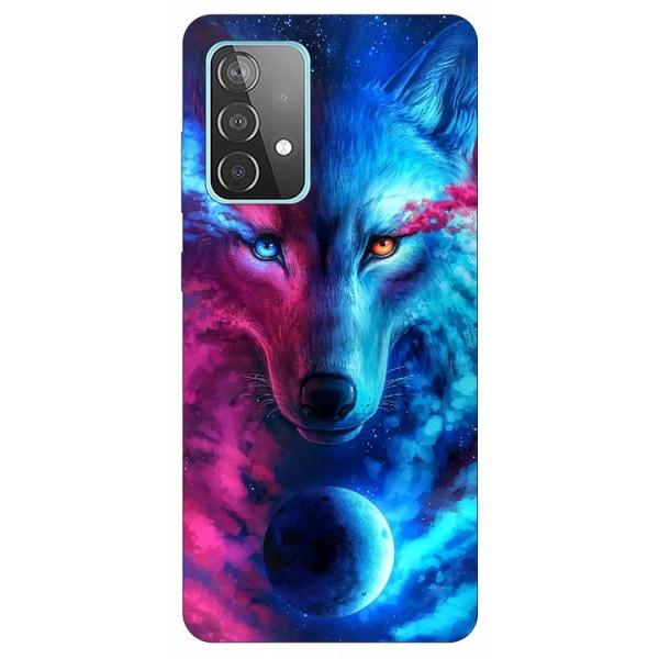 Husa Silicon Soft Upzz Print Compatibila Cu Samsung Galaxy A52 4G / A52 5G Model Wolf imagine itelmobile.ro 2021