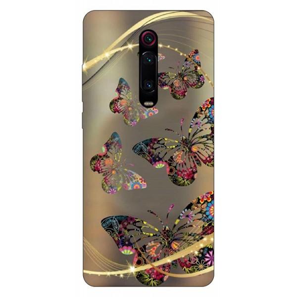Husa Silicon Soft Upzz Print Compatibila Cu Xiaomi Redmi 9t Model Golden Butterflies imagine itelmobile.ro 2021