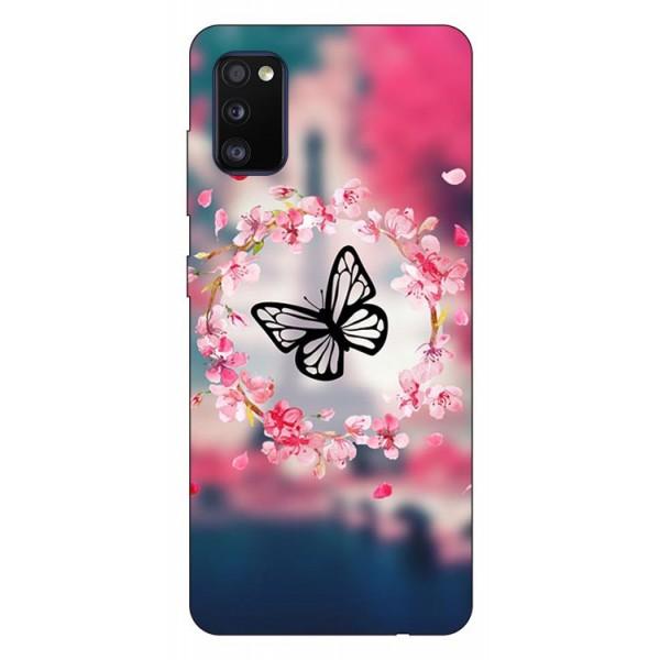 Husa Silicon Soft Upzz Print Compatibila Cu Samsung Galaxy A02s Model Butterfly imagine itelmobile.ro 2021