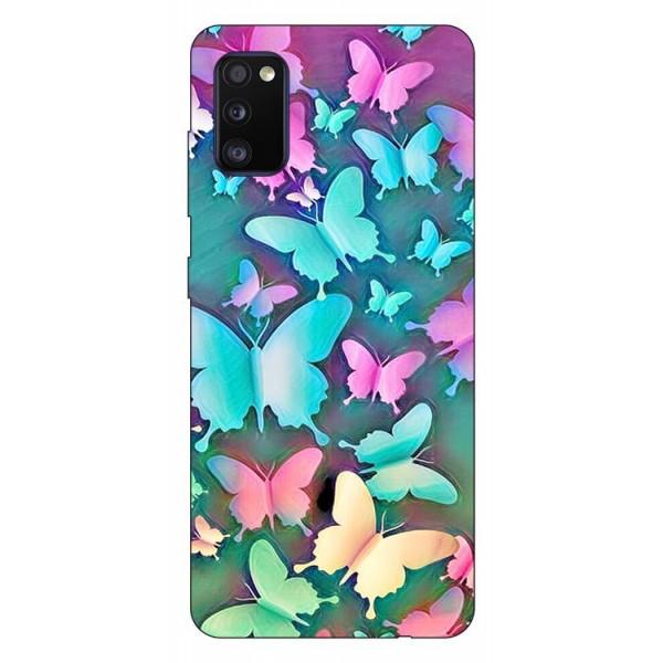 Husa Silicon Soft Upzz Print Compatibila Cu Samsung Galaxy A02s Model Colorfull Butterflies imagine itelmobile.ro 2021