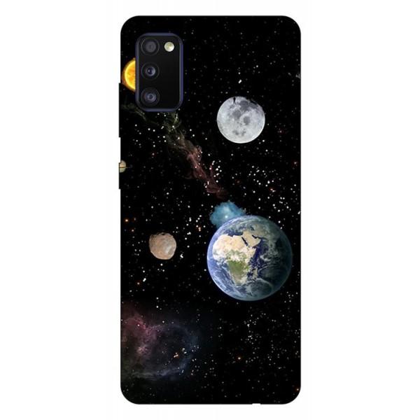 Husa Silicon Soft Upzz Print Compatibila Cu Samsung Galaxy A02s Model Earth imagine itelmobile.ro 2021