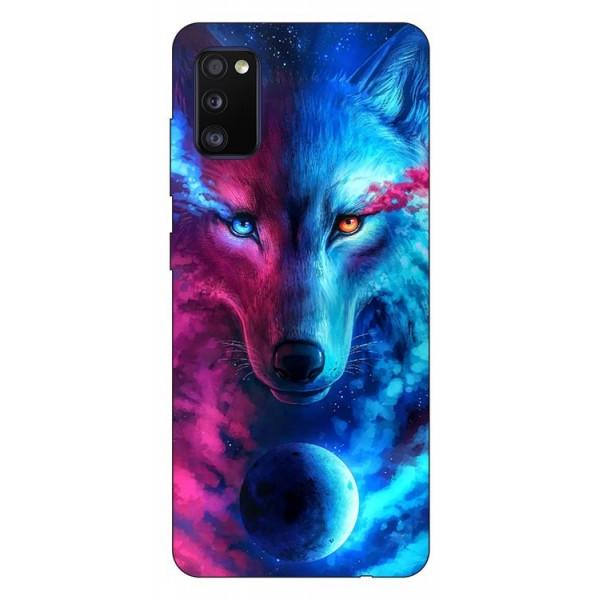 Husa Silicon Soft Upzz Print Compatibila Cu Samsung Galaxy A02s Model Wolf imagine itelmobile.ro 2021