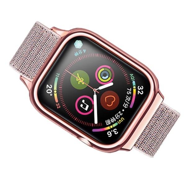 Curea Apple Watch Usams Nylon Cu Cadru Compatibila Cu Apple Watch 4 / 5 / 6 / Se (44mm), Rose Gold imagine itelmobile.ro 2021